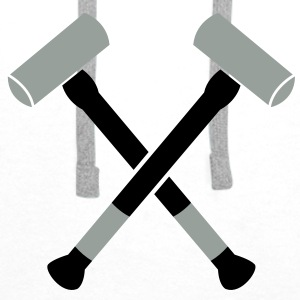 double sledgehammer hammers crossed Accessories - Men's Premium Hoodie