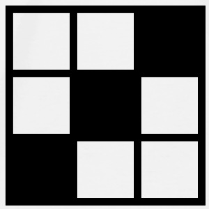 noughts and crosses grid background element Accessories - Men's Premium T-Shirt