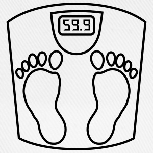 weighing _scales_ person_2_b1 Shirts - Baseball Cap