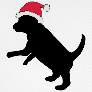 Puppy in Xmas Hat T-Shirts - Baseball Cap