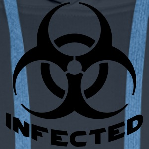 Infected Biohazard T-Shirts - Men's Premium Hoodie