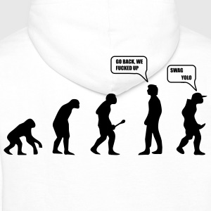 Swag Yolo Evolution T-Shirts - Men's Premium Hoodie