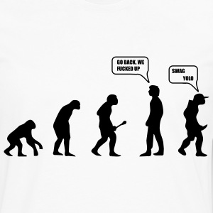 Swag Yolo Evolution T-Shirts - Men's Premium Longsleeve Shirt