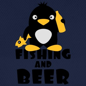 Fishing And Beer Penguin T-shirts - Basebollkeps