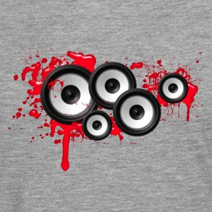 Music in the blood, speakers, sound system, audio T-shirts - Mannen Premium shirt met lange mouwen