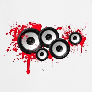 Music in the blood, speakers, sound system, audio T-shirts - Keukenschort