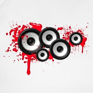 Music in the blood, speakers, sound system, audio T-shirts - Baseballcap