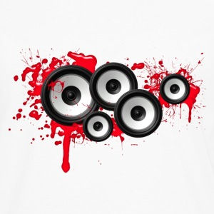 Music in the blood, speakers, sound system, audio T-shirts - Långärmad premium-T-shirt herr