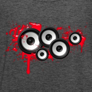 Music in the blood, speakers, sound system, audio Bluzy - Tank top damski Bella