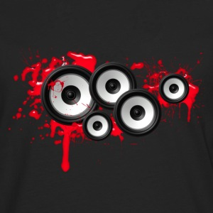 Music in the blood, speakers, sound system, audio Sweaters - Mannen Premium shirt met lange mouwen