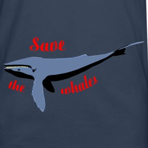 save the whales Bags  - Men's Premium Longsleeve Shirt