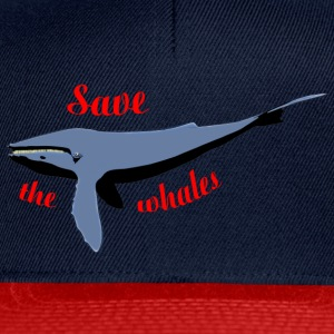 save the whales Bags  - Snapback Cap