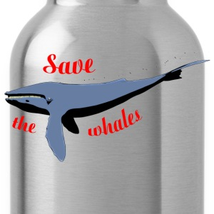 save the whales Shirts - Water Bottle