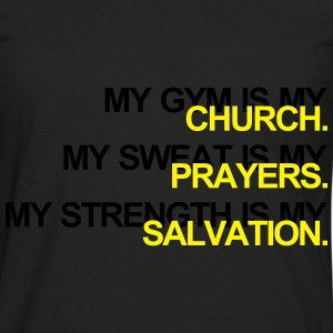 Gym is my Church Sudaderas - Camiseta de manga larga premium hombre