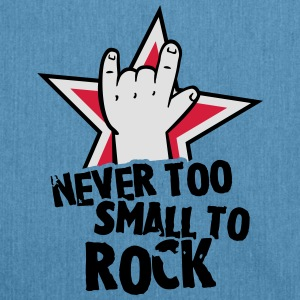 never too small to rock Tee shirts - Sac bandoulière 100 % recyclé