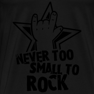 never too small to rock T-Shirts - Männer Premium T-Shirt