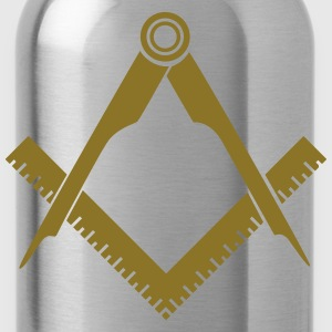 Masonic symbol, angular, circular, freemason Hoodies & Sweatshirts - Water Bottle