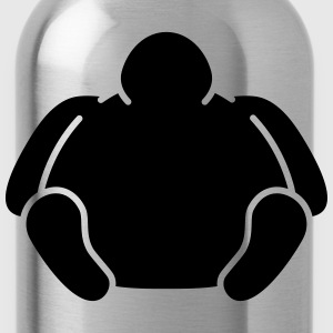 Sitting Fat Man T-Shirts - Water Bottle