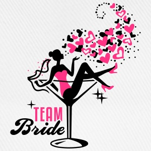 Bride - Braut - Team - JGA - Cocktail - Herz - 2C T-Shirts - Baseball Cap