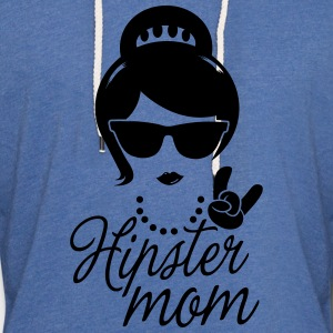 Like a i love hipster mother mom mother's day Tee shirts - Sweat-shirt à capuche léger unisexe