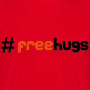 #FreeHugs Sweatshirts - Herre-T-shirt
