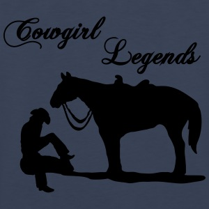 Cowgirl Legends T-Shirts - Men's Premium Tank Top