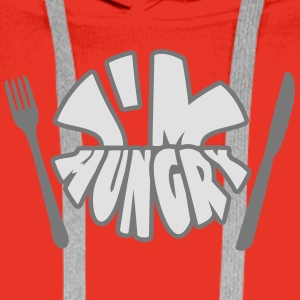 Im Hungry Tee shirts - Sweat-shirt à capuche Premium pour hommes