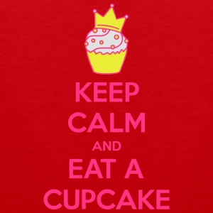 Keep Calm Cupcake T-skjorter - Premium singlet for menn