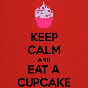 Keep Calm And Eat A Cupcake Camisetas - Delantal de cocina
