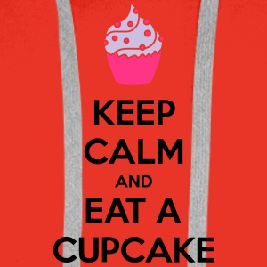 Keep Calm And Eat A Cupcake Camisetas - Sudadera con capucha premium para hombre