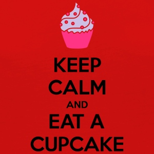 Keep Calm And Eat A Cupcake T-shirts - Dame premium T-shirt med lange ærmer