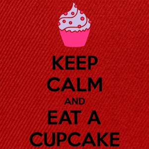 Keep Calm And Eat A Cupcake Camisetas - Gorra Snapback