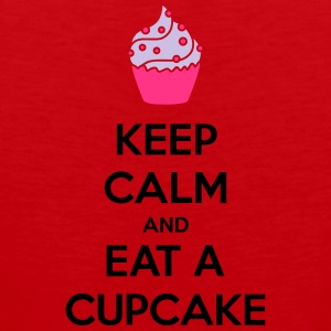 Keep Calm And Eat A Cupcake T-Shirts - Männer Premium Tank Top
