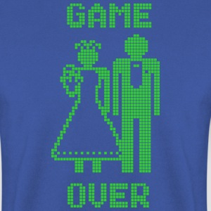 Game Over Old Skool groen T-shirts - Mannen sweater