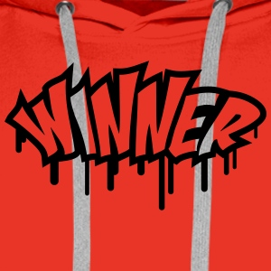 Winner Graffiti Tee shirts - Sweat-shirt à capuche Premium pour hommes