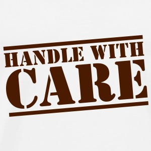 handle with care box sign in stencil Bottles & Mugs - Men's Premium T-Shirt
