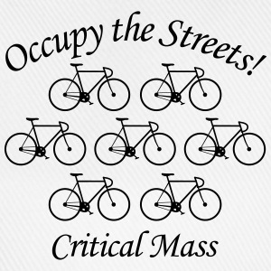 Critical Mass: Occupy the Streets! T-Shirts - Baseballkappe