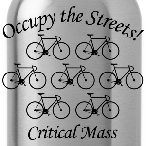 Critical Mass: Occupy the Streets! T-Shirts - Trinkflasche