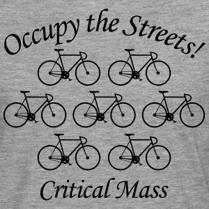 Critical Mass: Occupy the Streets! T-Shirts - Männer Premium Langarmshirt