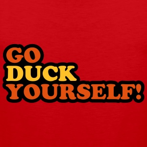 Duck Yourself T-shirts - Premiumtanktopp herr