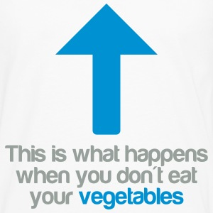 Eat your vegetables T-shirts - Herre premium T-shirt med lange ærmer