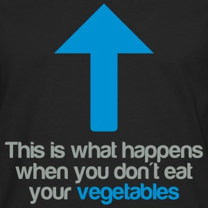 Eat your vegetables T-shirts - Långärmad premium-T-shirt herr