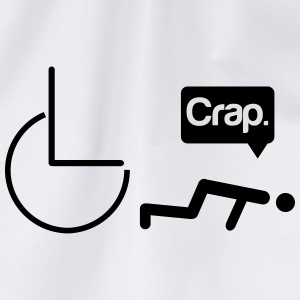 Crap wheelchair T-Shirts - Drawstring Bag
