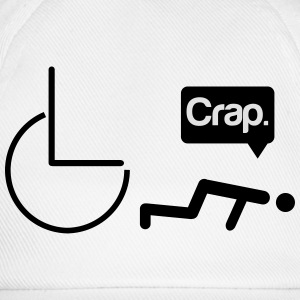 Crap wheelchair Magliette - Cappello con visiera