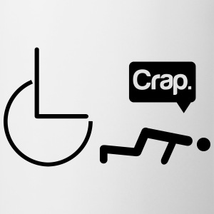 Crap wheelchair Camisetas - Taza