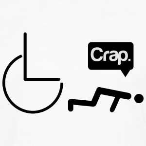 Crap wheelchair T-shirts - Herre premium T-shirt med lange ærmer