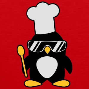 Cool Penguin Chef T-shirts - Mannen Premium tank top