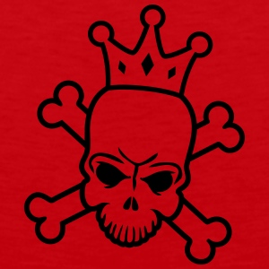 Skeleton King T-shirts - Premiumtanktopp herr