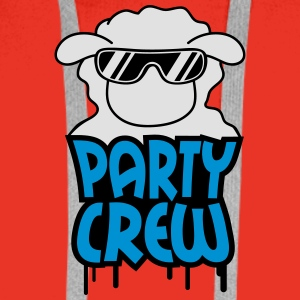Party Crew Sheep T-Shirts - Männer Premium Hoodie