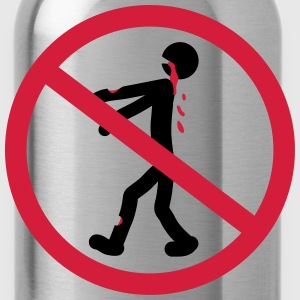 No Zombie T-Shirts - Water Bottle